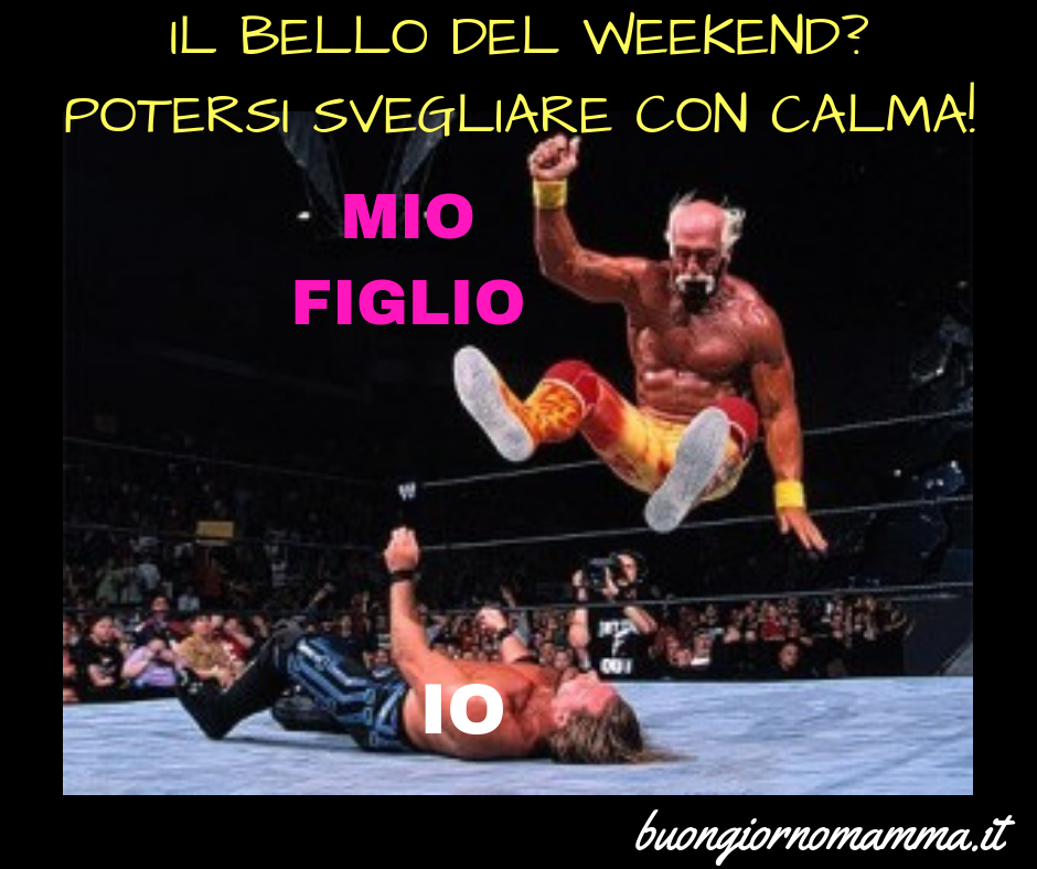 Il bello del weekend? Potersi svegliare con calma!