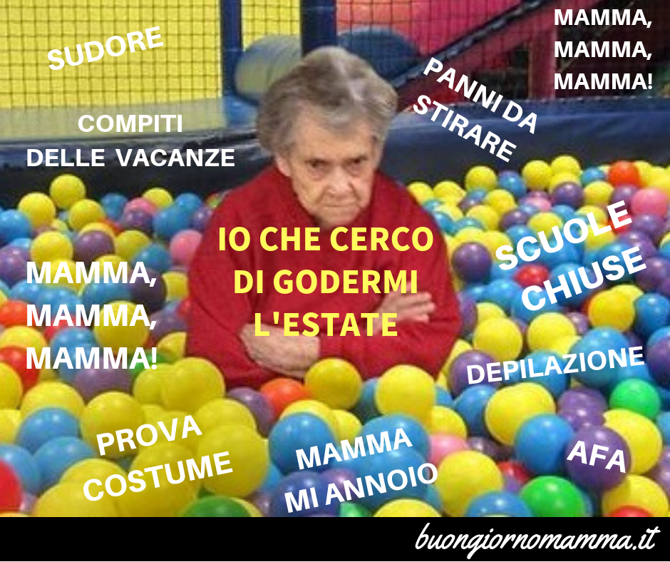 Io che cerco di godermi l'estate